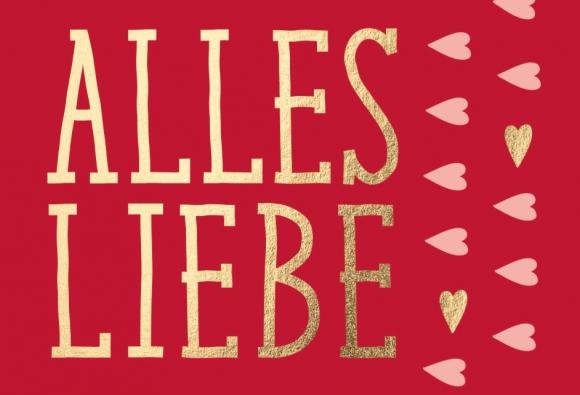 Mini-Doppelkarte: Alles Liebe