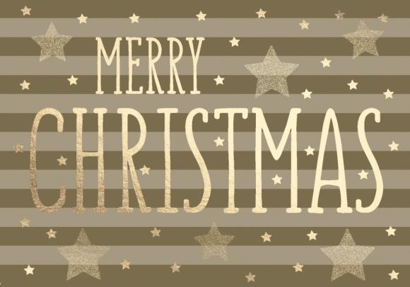 Doppelkarte: Merry Christmas