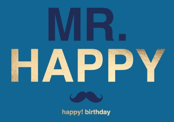 Doppelkarte: Mr. Happy - Happy Birthday