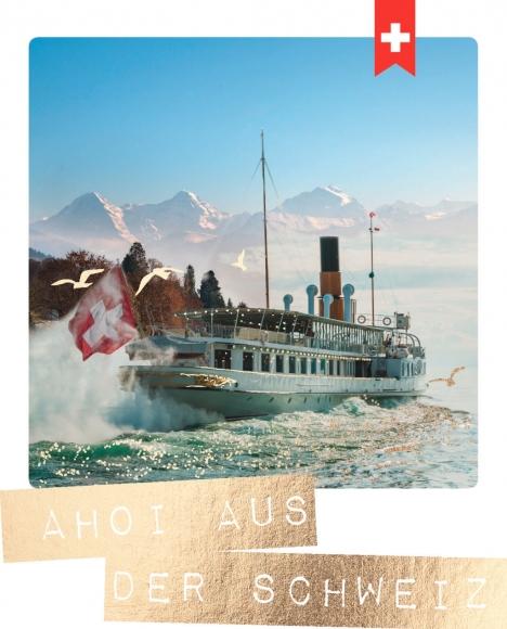 Postkarte: Ahoi aus der Schweiz