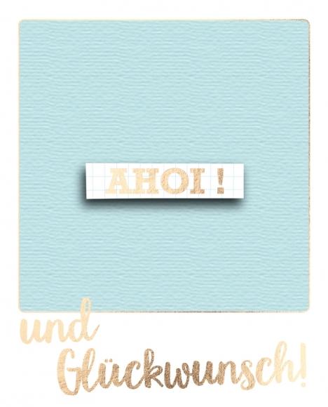 Postkarte: Ahoi! und Glückwunsch!