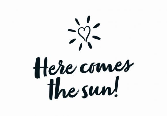 Postkarte: Here comes the sun!