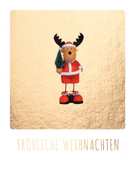Mini-Postkarte: Fröhliche Weihnachten