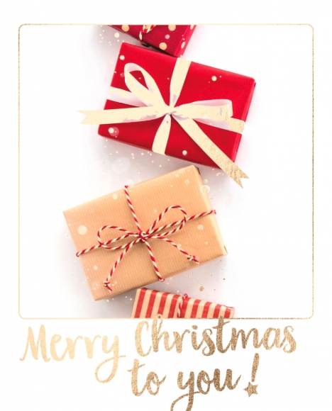 Postkarte: Merry Christmas to you!