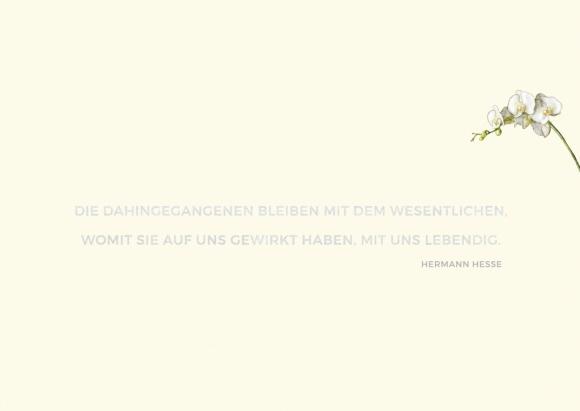 Doppelkarte: Die Dahingegangenen bleiben (Hesse)