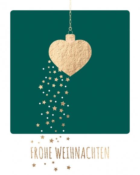 Mini-Postkarte: Frohe Weihnachten