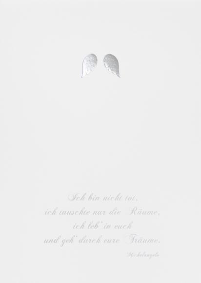 Doppelkarte: Ich bin nicht tot