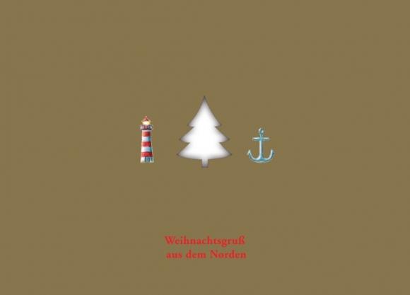 Postkarte: Weihnachtsgruß aus dem Norden