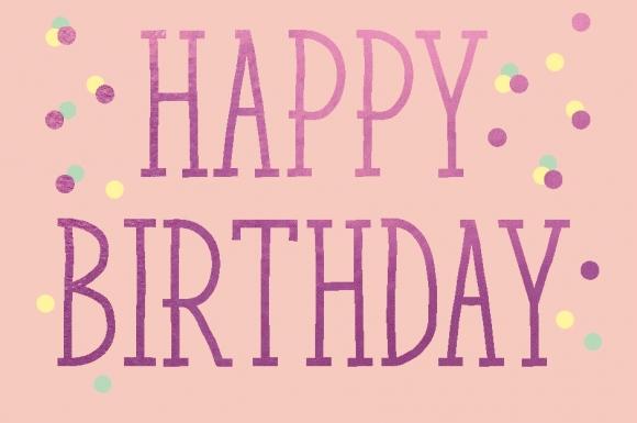 Mini-Doppelkarte: Happy Birthday