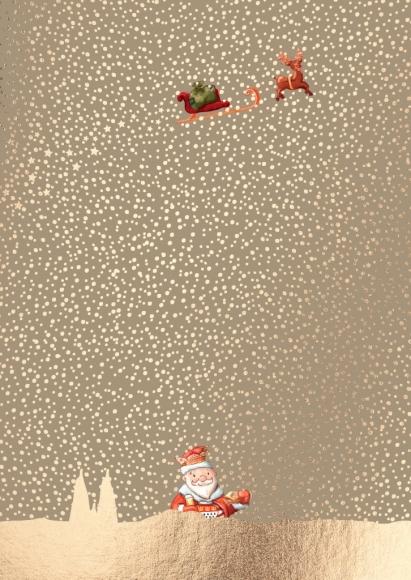Postkarte: Kölscher Weihnachtsmann im Schnee