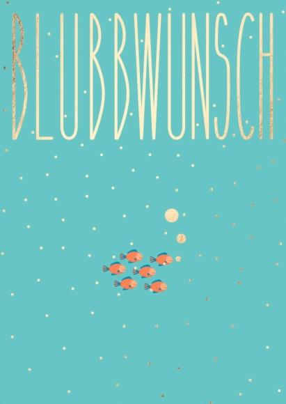 Postkarte: Blubbwunsch