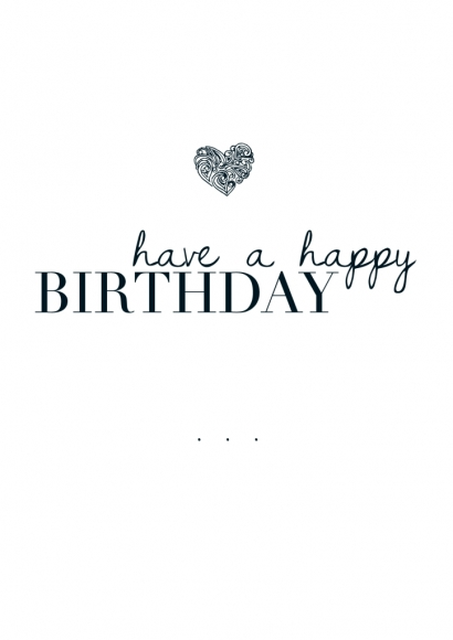 Postkarte: have a happy Birthday