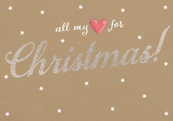 Doppelkarte: All my love for Christmas
