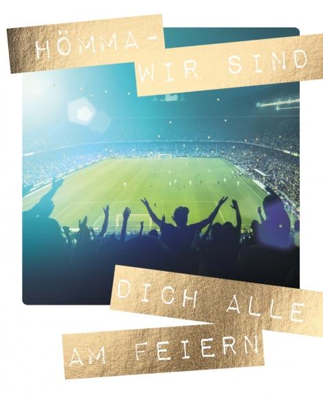 Postkarte: Hömma - Wir sind Dich alle am feiern