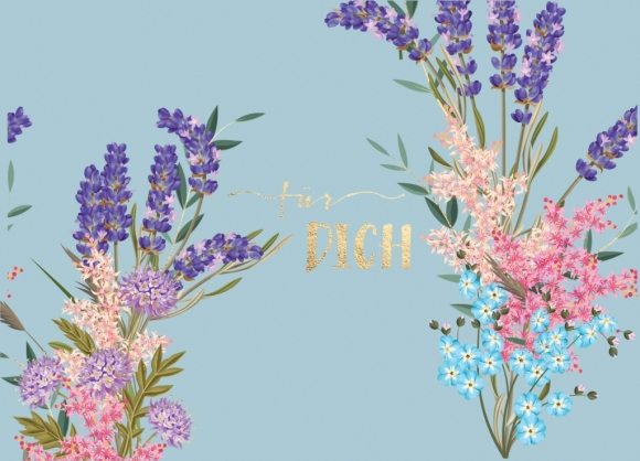 Postkarte: Für Dich - Blumenstrauß