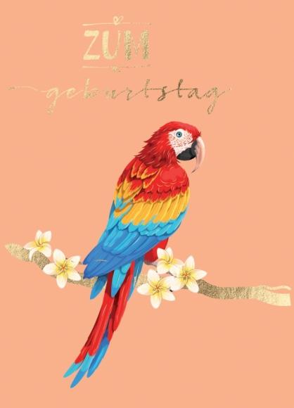 Postkarte: Zum Geburtstag