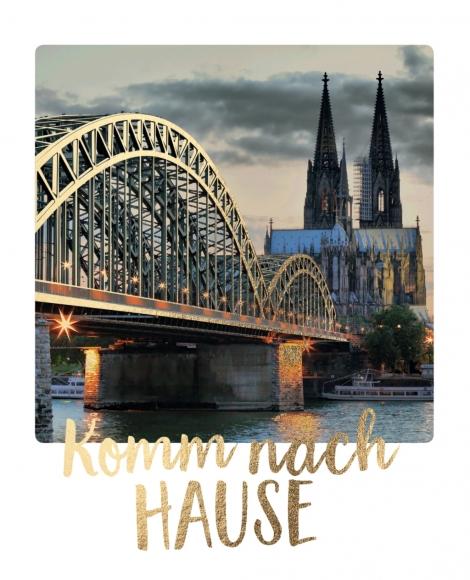 Postkarte: Komm nach Hause