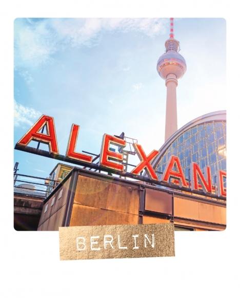 Postkarte: Berlin, Alex mit Fernsehturm