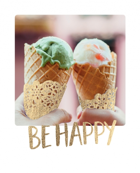 Mini-Postkarte: Be happy