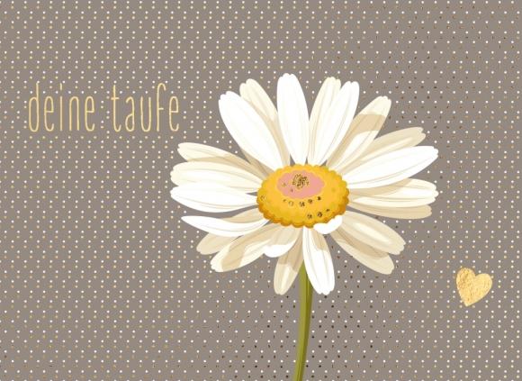 Doppelkarte: Margerite - Deine Taufe