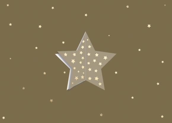 Postkarte: Stern zum Ausklappen