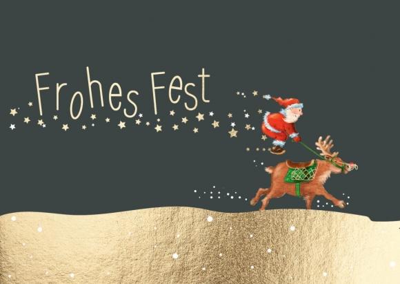 Doppelkarte: Frohes Fest