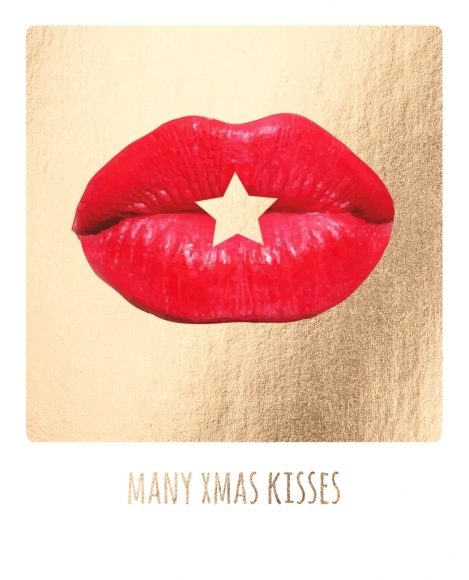 Postkarte: Many xmas kisses
