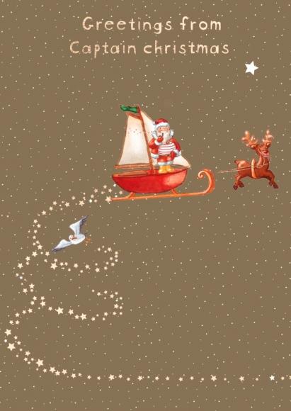 Postkarte: Greetings from Captain Christmas