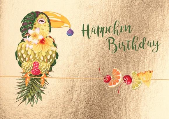 Postkarte: Häppchen Birthday