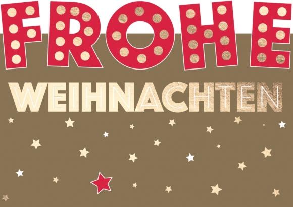 Postkarte: FROHE WEIHNACHTEN