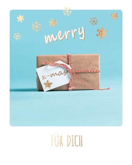 Mini-Postkarte: Merry x-mas für Dich