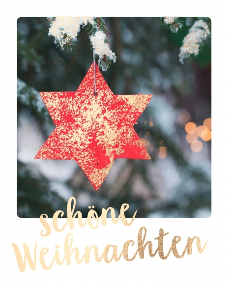 Mini-Postkarte: Schöne Weihnachten