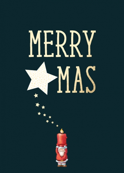 Postkarte: Merry X-MAS