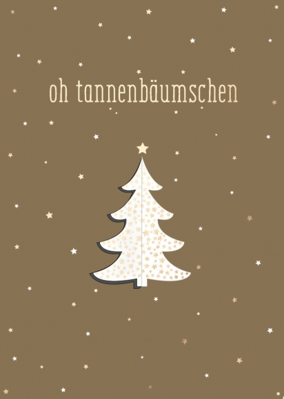 Postkarte: oh tannenbäumschen