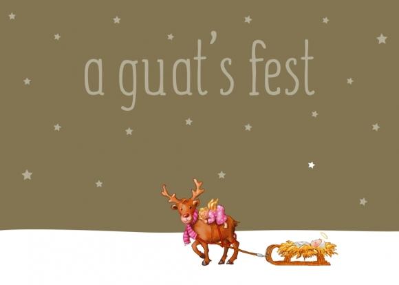 Doppelkarte: a guat's fest