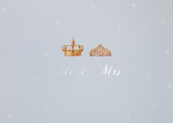 Doppelkarte: Mr & Mrs