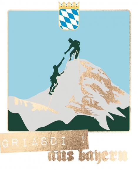 Postkarte: Griasdi! aus bayern