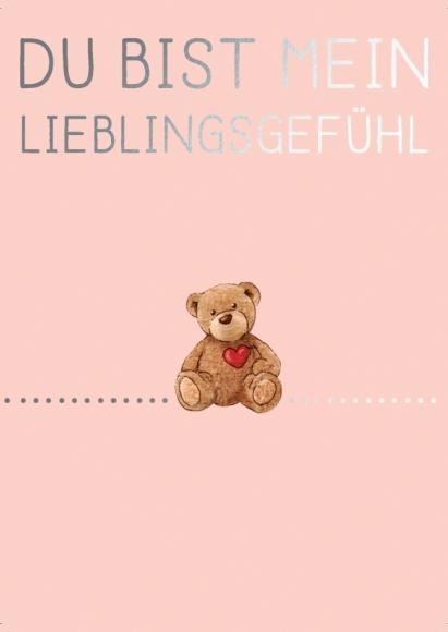 Postkarte: Du bist mein Lieblingsgefühl - Teddy