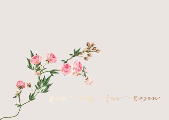 Postkarte: Ein Tag für Rosen