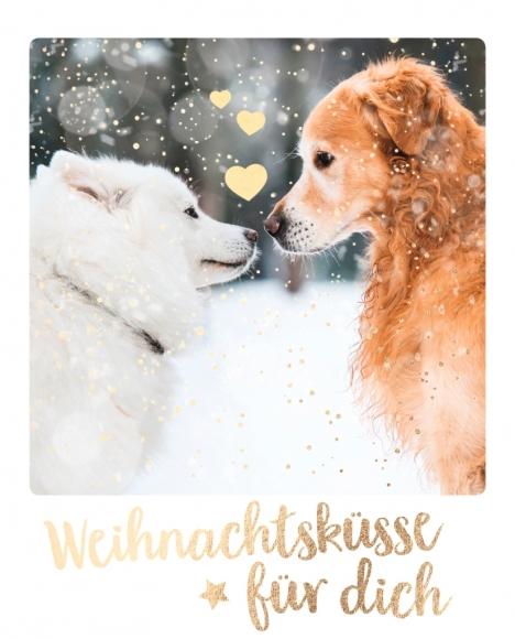Postkarte: Weihnachtsküsse für dich