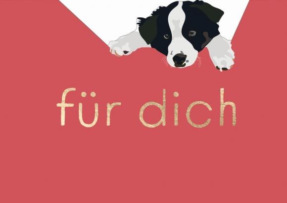 Postkarte: Für Dich - Hund