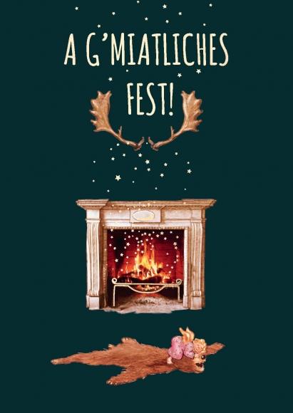 Postkarte: A g'miatliches Fest!