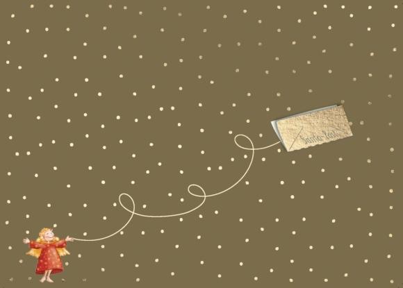 Postkarte: Engel mit Santa-Post