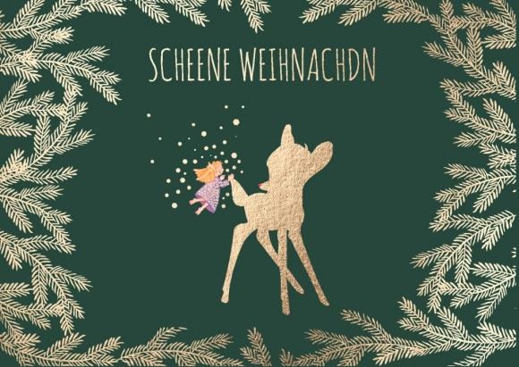 Doppelkarte: Scheene Weihnachdn