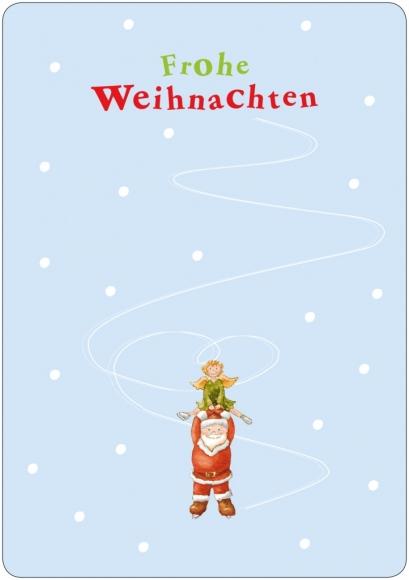 Eiskratzerkarte: Frohe Weihnachten