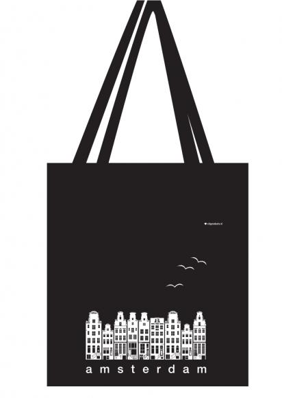 Tasche Amsterdam Fassaden schwarz