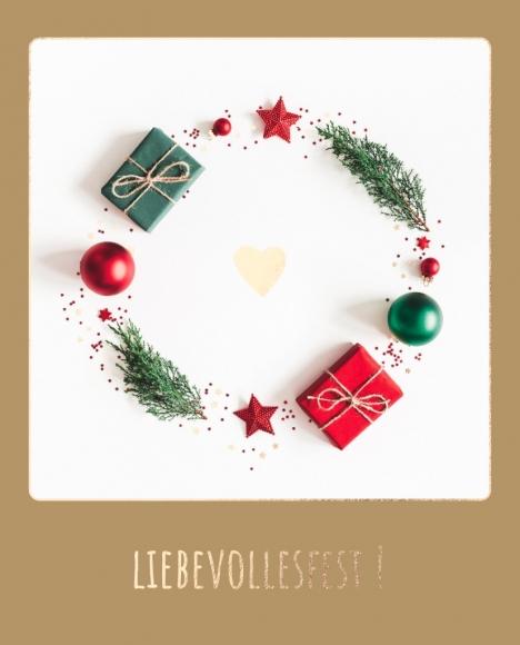 Postkarte: Liebevollesfest!