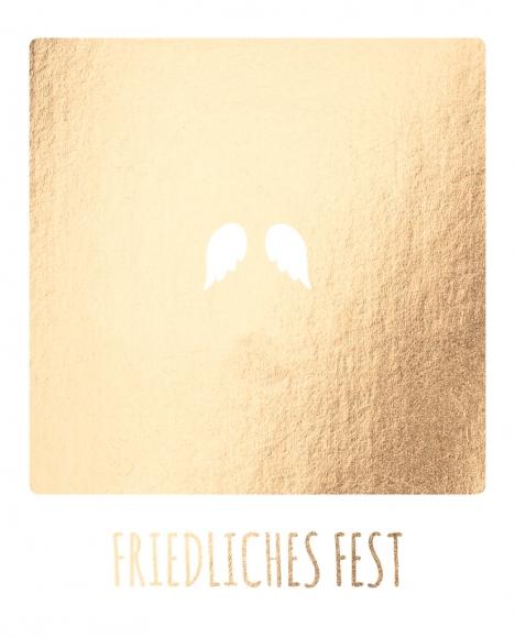 Postkarte: Friedliches Fest