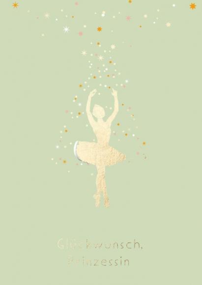 Postkarte: Glückwunsch, Prinzessin - Ballettänzerin