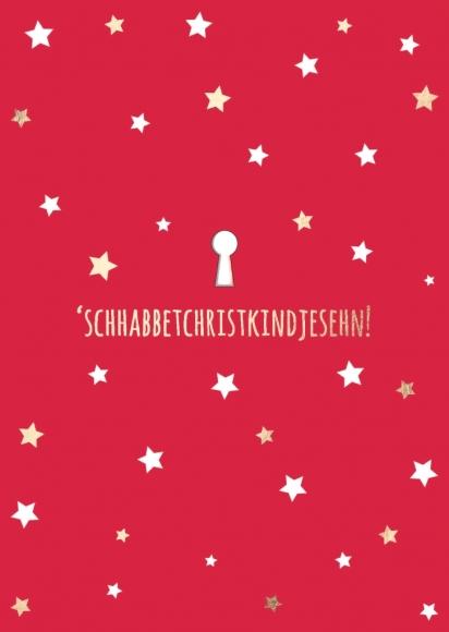 Postkarte: 'schhabbetchristkindjesehn